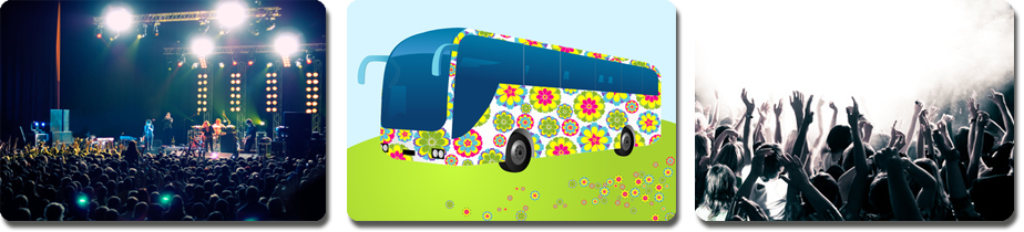 book a coach to get to a festival